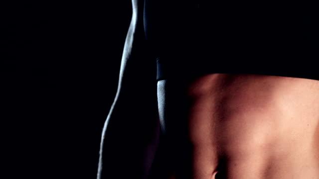 fitness model - sportbehå bildbanksvideor och videomaterial från bakom kulisserna