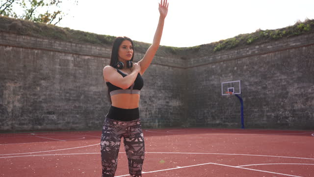 fitness woman exercising outdoors - sports training drill stock videos & royalty-free footage