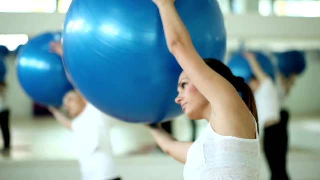 fitness workout - fitness ball stock videos & royalty-free footage
