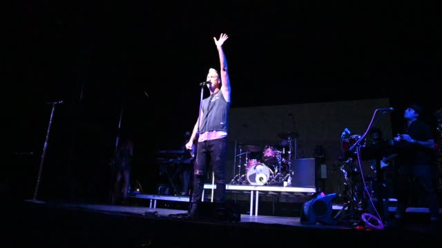 fitz and the tantrums performs onstage during the fitz and the tantrums drive-in concert at city national grove of anaheim on september 05, 2020 in... - anaheim california stock videos & royalty-free footage