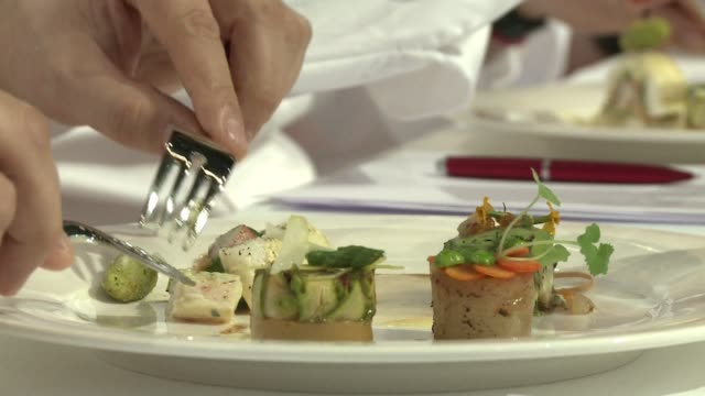 five chefs compete to represent france at what is widely regarded as the toughest and most prestigious cooking competition in the world the bocuse... - dor stock videos & royalty-free footage