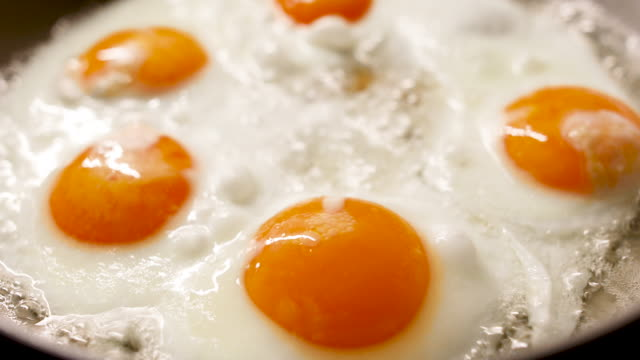 five eggs in a pan - number 5 stock videos & royalty-free footage