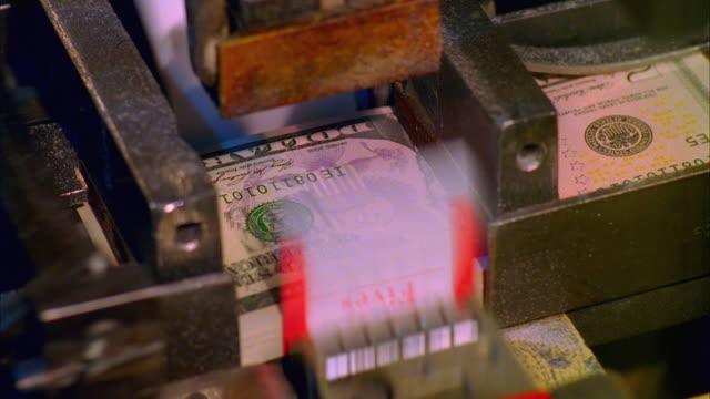 ecu, five hundred american dollar bundles being banded, washington dc, usa - banknote stock videos & royalty-free footage
