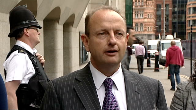 five members of oxford gang jailed for grooming underage girls; england: london: old bailey: ext detective inspector simon morton speaking to press... - gang stock videos & royalty-free footage