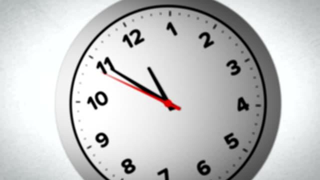 Cinco minutos, a las 12.00 horas