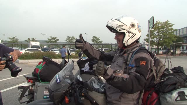 Five New Zealand motorcyclists have been given rare permission to cross the interKorean border the world's last Cold War frontier after both North...