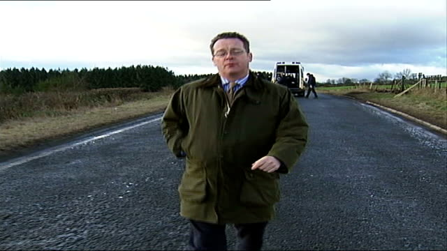 five people killed in road crash in perthshire reporter to camera - perthshire stock videos & royalty-free footage