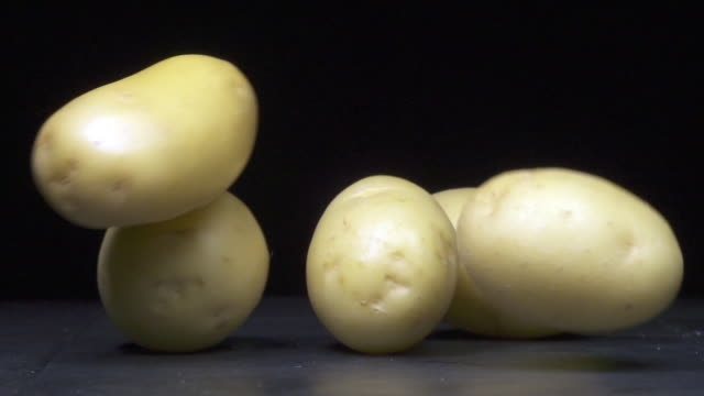 five potatoes - five objects stock videos & royalty-free footage