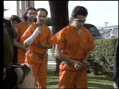 five survivors of the waco siege and fire are led into court and are asked questions by reporters. survivors of waco siege led into court on april... - cult stock videos & royalty-free footage