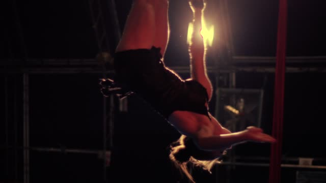 five to nine - circus passion - aerial straps - circus stock videos & royalty-free footage