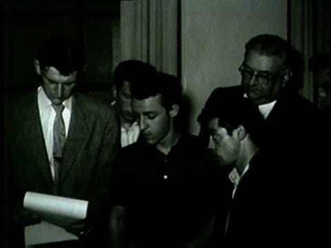 five young men arraigned for murder in chicago in 1954 - 1954 stock videos & royalty-free footage