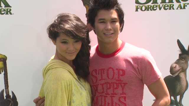 fivel stewart and booboo stewart at the 'shrek forever after' premiere at universal city ca - universal city video stock e b–roll