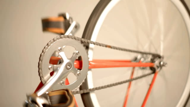 fixie gear crank detail - saddle stock videos & royalty-free footage