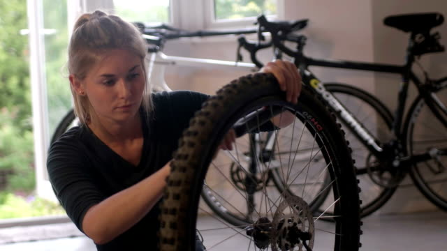 fixing puncture 1 - puncture repair kit stock videos & royalty-free footage