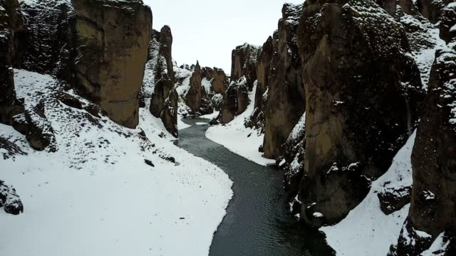 fjadrargljufur canyon in iceland - geology stock videos & royalty-free footage