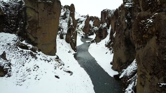 fjadrargljufur canyon in iceland - icicle stock videos and b-roll footage