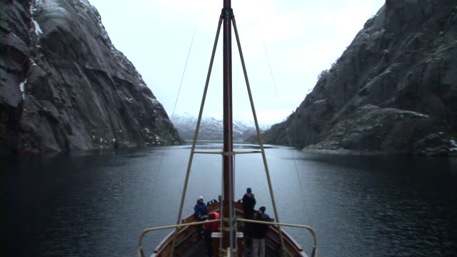 hd time-lapse: fjord cruise - crew stock videos & royalty-free footage