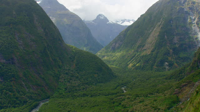 fjordland national park aerial - new zealand stock videos & royalty-free footage