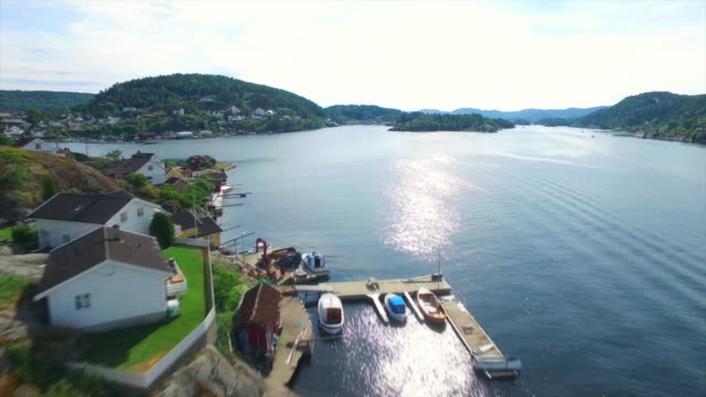 fjords of kragero - telemark stock videos and b-roll footage