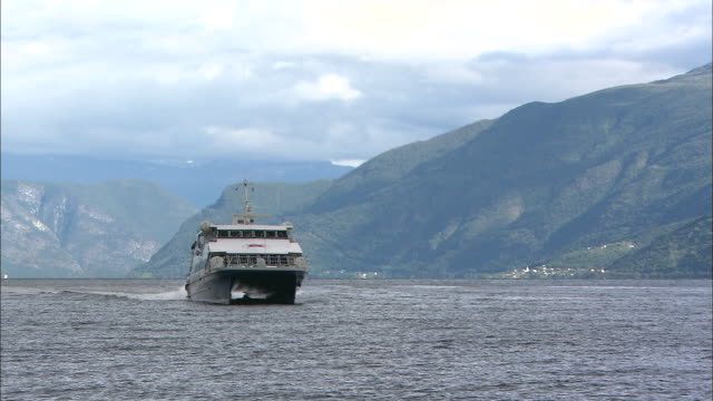 fjords of norway - ferry stock videos & royalty-free footage