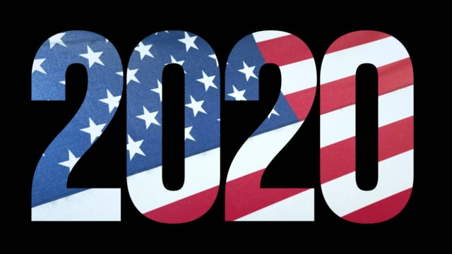 usa flag and us election 2020 background - us president stock videos & royalty-free footage