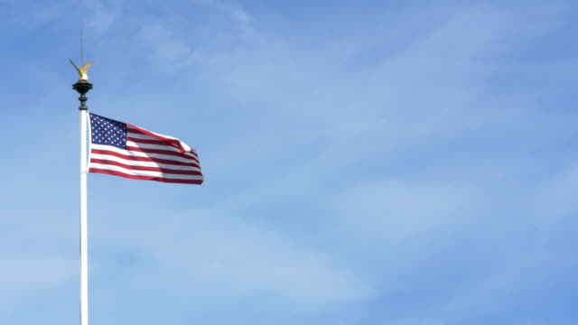 usa flag at world-war ii american cemetery - d day stock videos and b-roll footage