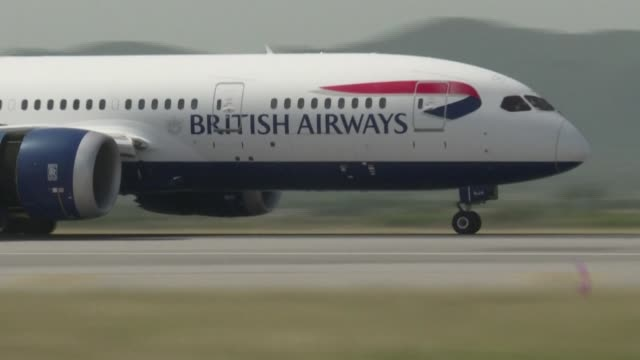 """flag carrier british airways is retiring its entire boeing 747 """"jumbo jet"""" fleet, following the huge hit to international air travel caused by the... - aerospace stock videos & royalty-free footage"""