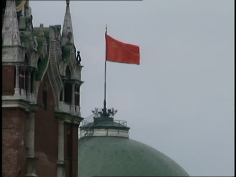 flag flying above building - former ussr flag stock videos & royalty-free footage