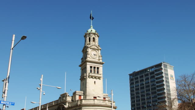 Flag Flying Over Auckland Town Hall