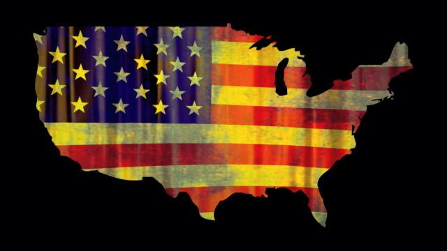 US flag four grunge