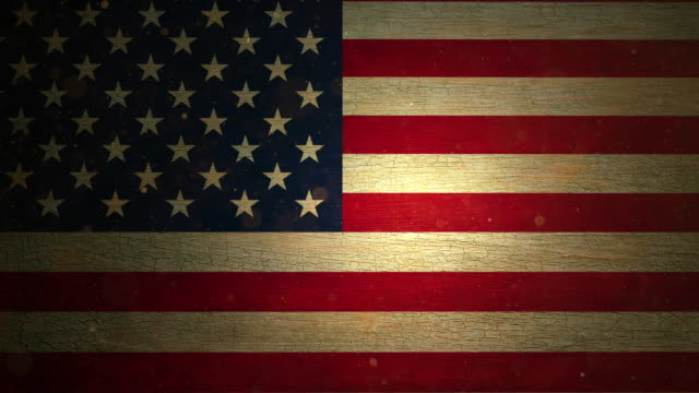 usa flag - grunge. 4k - run down stock videos & royalty-free footage