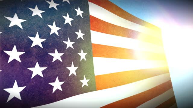 usa-flagge mit grunge.  hd - - ausgefranst stock-videos und b-roll-filmmaterial
