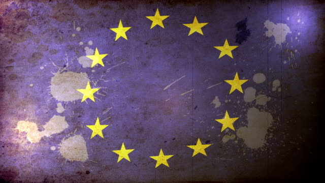 eu flag - grunge. hd - deterioration stock videos & royalty-free footage