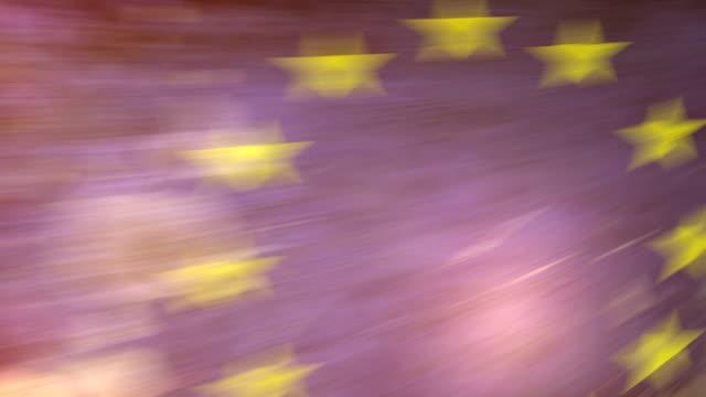 eu-flagge mit grunge.  hd - - ausgefranst stock-videos und b-roll-filmmaterial