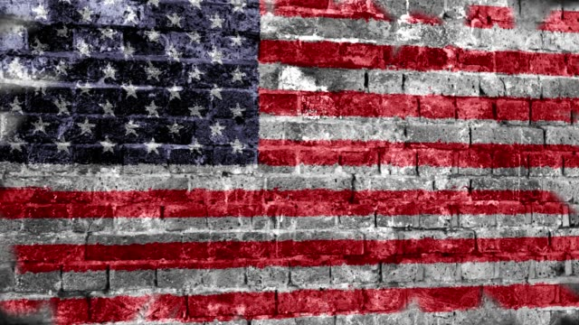 usa flag grunge wall. 4k - grunge image technique stock videos & royalty-free footage