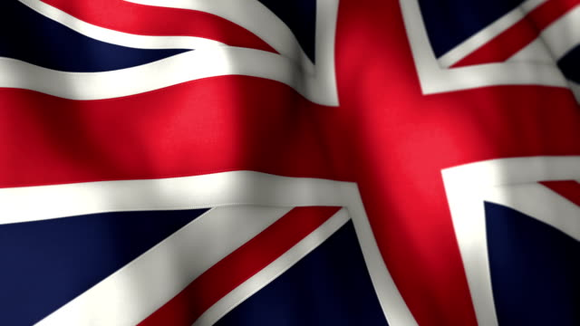 uk flag high detail - looping - flag blowing in the wind stock videos & royalty-free footage