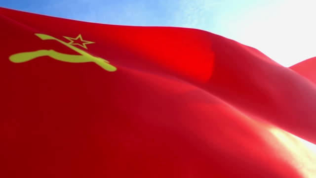 ussr flag high detail - former ussr flag stock videos & royalty-free footage