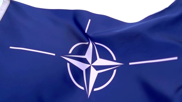 nato flag high detail - nato stock videos & royalty-free footage