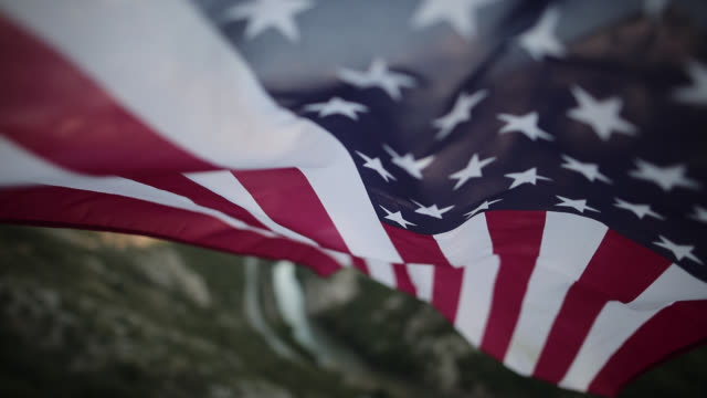u.s. flag in mountains - pledge of allegiance stock videos & royalty-free footage