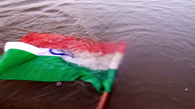 flag in water - patriotism stock videos & royalty-free footage