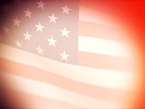 米国の旗。映画のようです。
