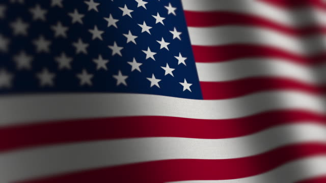 usa flag - loop. 4k - stars and stripes stock videos & royalty-free footage