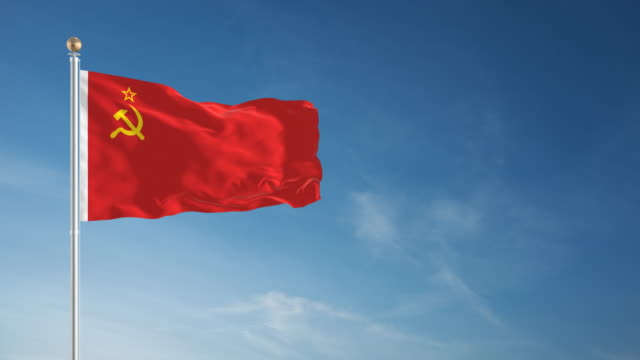 4k ussr flag - loopable - former ussr flag stock videos & royalty-free footage
