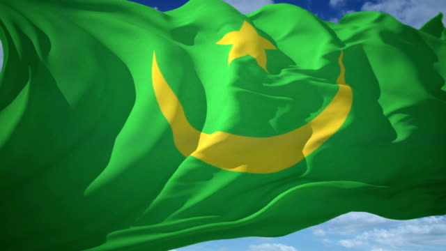 flag mauritania - mauritania stock videos & royalty-free footage