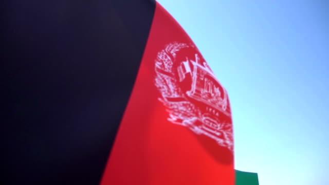 flagge von afghanistan - kabul stock-videos und b-roll-filmmaterial