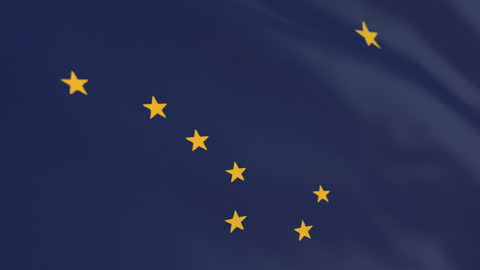 flag of american state of alaska, united states - alaska us state stock videos & royalty-free footage