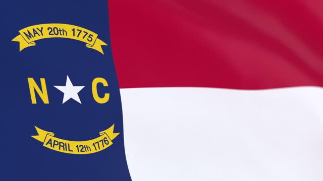 amerikanska delstaten north carolinas flagga, usa - north carolina amerikansk delstat bildbanksvideor och videomaterial från bakom kulisserna