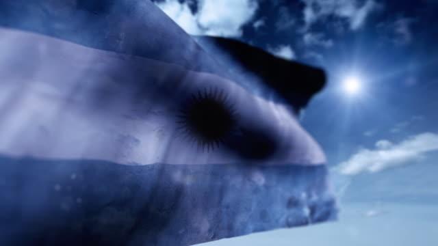 flagge von argentinien - argentinische flagge stock-videos und b-roll-filmmaterial