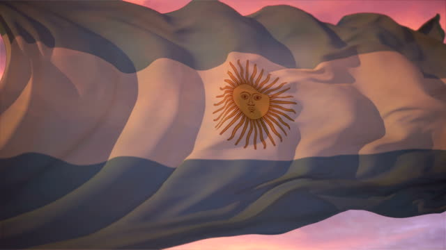 flag of argentina - argentinian flag stock videos & royalty-free footage