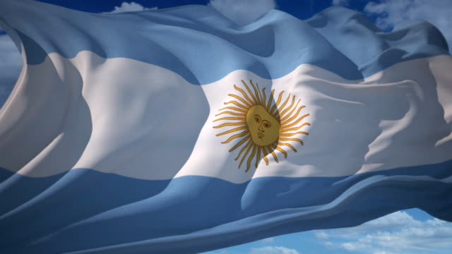 flag of argentina - argentinian culture stock videos & royalty-free footage